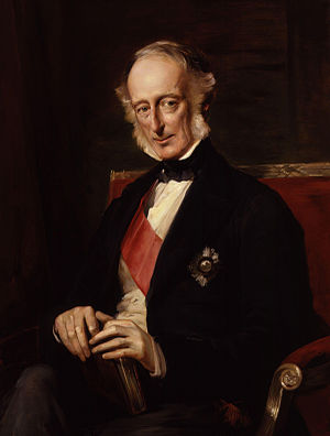 Charles Wood, 1st Viscount Halifax - An 1873 portrait of Lord Halifax by Anthony de Brie.