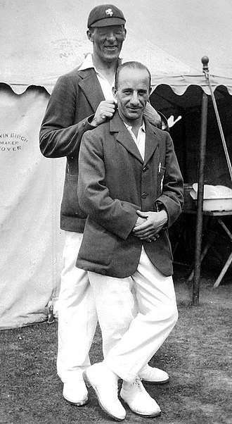 Tich Freeman - Freeman (right) with Charlie Wright c. 1930