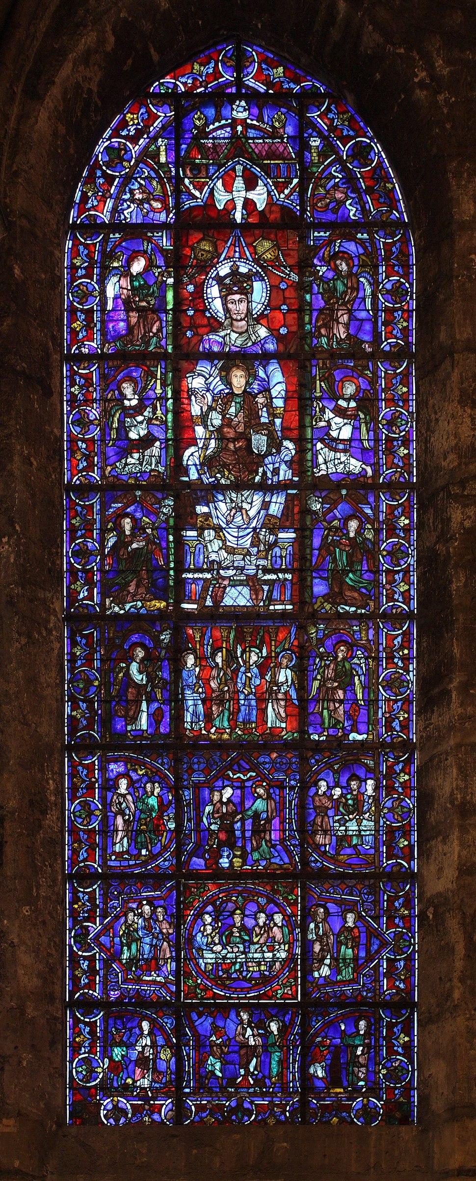 Chartres - cathédrale - ND de la belle verrière