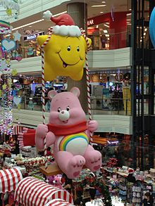 Cheer Bear from Care Bear , Junction 8, Singapore, Dec 2013.JPG