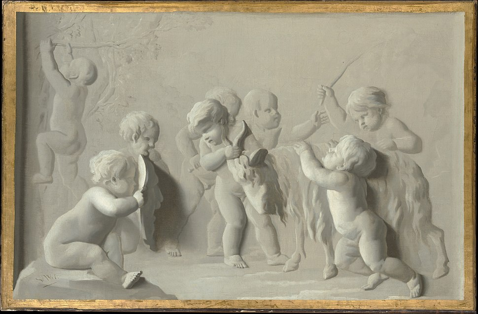 Children Playing with a Goat MET DP146935