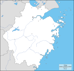 Dinghai is located in Zhejiang