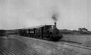 Chōshi Electric Railway Line - A Chōshi Sightseeing Railway train between Moto-Choshi and Ashikajima stations hauled by locomotive No. 1