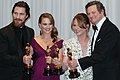 Christian Bale, Natalie Portman, Melissa Leo and Colin Firth 2011 crop.jpg