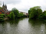 Church of All Saints along the River Leam in Leamington Spa, Warwickshire.jpg