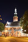 Church of Saint John the Baptist in Radom by night (HDR).jpg