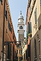 Church of San Pantalon - The bell tower seen from the Calle della Scuola (Venice).jpg