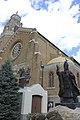 Church of the Holy Name with Pope John Paul II Statue.jpg