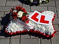 City of London Cemetery and Crematorium ~ floral tribute - Red and white pillow.jpg