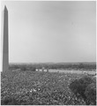 Civil Rights March on Washington, D.C. (Aerial view of Washington Monument showing marchers.) - NARA - 541997.tif
