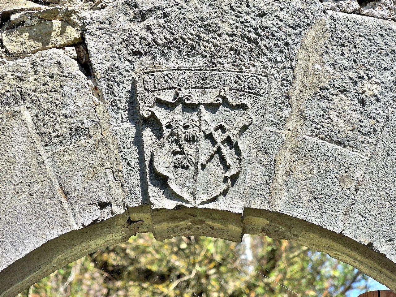 Le Porche De La Maison fichier:clé de voûte de 1610, sur le porche de la maison des