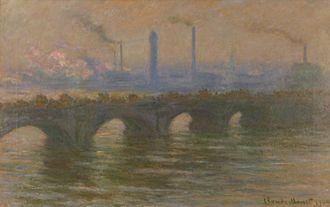 Environmental art - Claude Monet, Waterloo Bridge, London