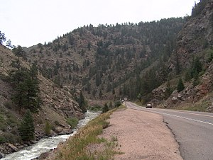 Clear Creek (Colorado) - US 6 in Clear Creek Canyon west of Golden