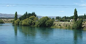 Albert Town, New Zealand - The young Clutha River at Albert Town, Central Otago.