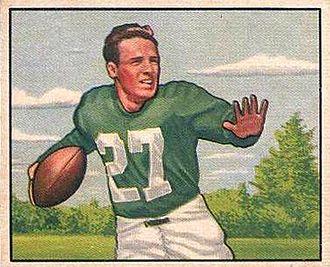 Clyde Scott - 1950 Bowman Football card of Scott