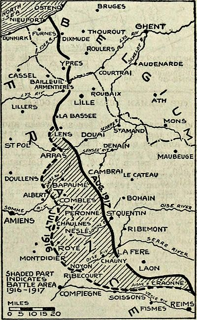 Collier's 1921 World War - Somme battle zone.jpg