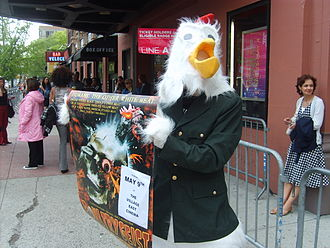 "Poultrygeist: Night of the Chicken Dead - ""Colonel Kluck"" protests on behalf of Poultrygeist at the 2008 Tribeca Film Festival."