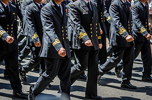 International Fleet Review 2013 - Image: Combined Navies Parade (2)