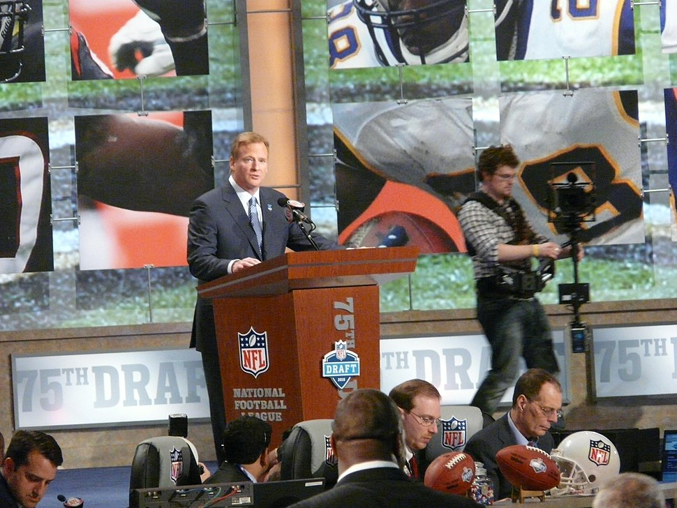 Commissioner Goodell at the 2010 NFL Draft podium