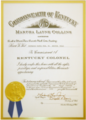 Commissioning Certificate awarded to Daniel S. Peña Sr.png