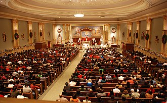 Church attendance - Many Christians attend church services on Christmas Eve, the Christian vigil that celebrates the birth of Jesus Christ.