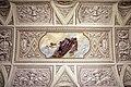 Comune di sesto fiorentino, interno, ex-salone del consiglio, 04 affreschi del 1871 circa, putti con stemma del comune.jpg