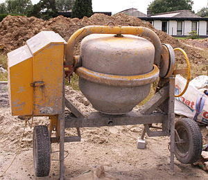 An Outdated Model Of A Small Scale Concrete Mixer These Older Mixers Are Heavy
