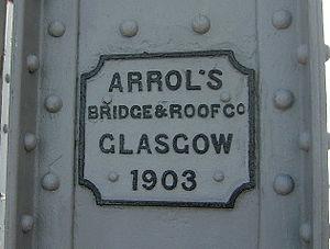 Connel Bridge - Builder's plate on Connel Bridge