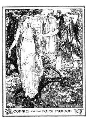 John D. Batten - Image: Connla and the Fairy Maiden Illustration