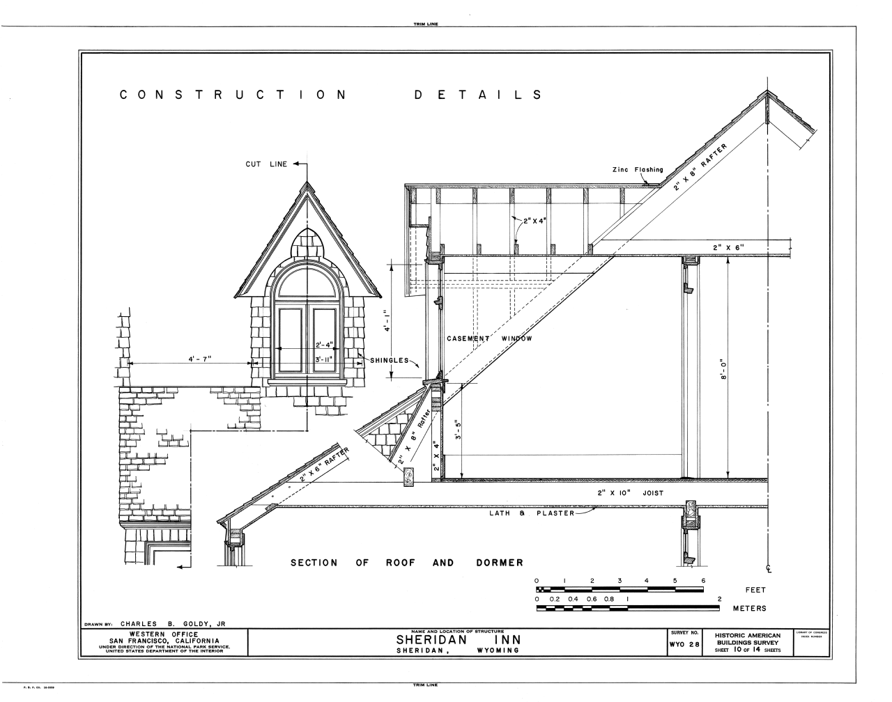 File Construction Detail Section Of Roof And Dormer