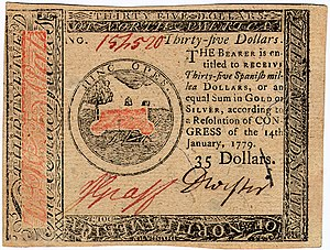 Continental Currency $35 banknote obverse (January 14, 1779).jpg