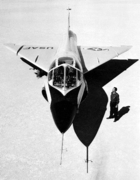 Convair TF-102A Delta Dagger on lakebed