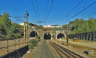 Copenhagen Tunnel - Image: Copenhagen South Portals