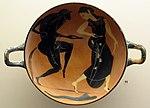 Coppa a figure nere con satiro e menade danzanti, da tomba a Macri langoni T109 (32), 500 ac ca..JPG