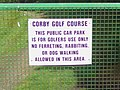 Corby Golf Course sign - geograph.org.uk - 488229.jpg