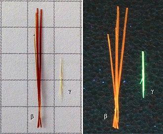 Coronene - Image: Coronene crystals luminescence