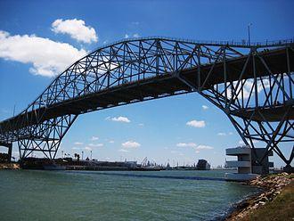 Corpus Christi Harbor Bridge - The Harbor Bridge crossing into Corpus Christi