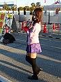 Cosplayer of Hitagi Senjogahara, Monogatari Series at Comic Market 85 20131229.jpg