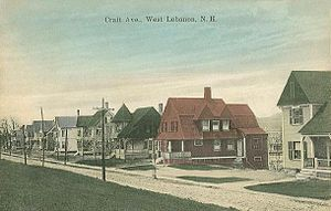 Lebanon, New Hampshire - Crafts Avenue in 1912