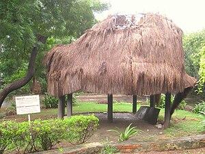 Nicobarese - A traditional Nicobar hut