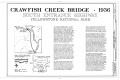 Crawfish Creek Bridge, Spanning Crawfish Creek at South Entrance Road, Lake, Teton County, WY HAER WYO,20-YELNAP,3- (sheet 1 of 3).png