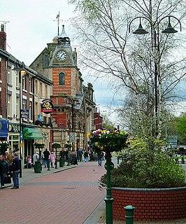Crewe railway town in Cheshire East, Cheshire, England
