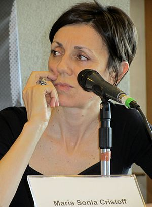 Maria Sonia Cristoff - Cristoff at the Santiago International Book Fair 2015