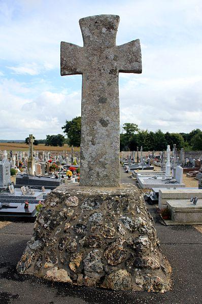 Croix de cimetière (Guillac): implantation