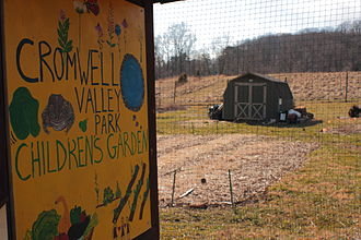 Cromwell Valley Park - Image: Cromwell Valley Park Children's Garden Sign