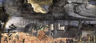 The Crossing of the Red Sea (Sistine Chapel) - Detail of the storm.