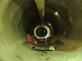 Crossrail tunnel in the datk (11421521283).jpg