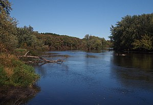 Crow Wing River - The Crow Wing River in Old Wadena County Park