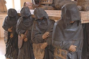 Antoine Le Moiturier - Pleurants, tomb of Philippe Pot, now located in the Louvre, circa 1480