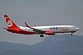 D-ABME B737-86JW Air Berlin(OneWorld titles) PMI 05JUN13 (8961629041).jpg